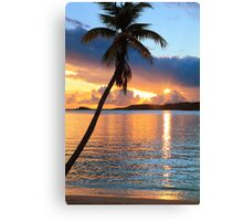 Tropical Sunset St. Thomas Canvas Print