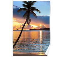 Tropical Sunset St. Thomas Poster