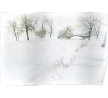 Snowfilled Storrow Lagoon Poster
