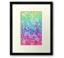 Fantasy Garden Rainbow Doodle Framed Print