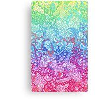 Fantasy Garden Rainbow Doodle Canvas Print
