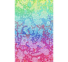 Fantasy Garden Rainbow Doodle Photographic Print