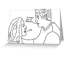 X-Files: Sad Mulder Greeting Card