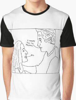 X-Files: Sad Mulder Graphic T-Shirt