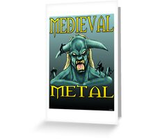 Medieval Metal Greeting Card
