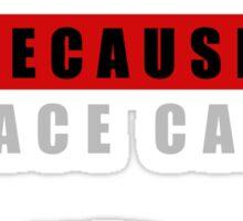 Because Race Car Sticker