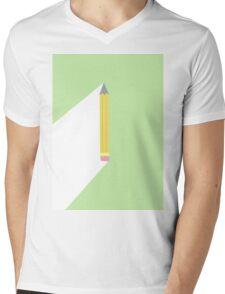 Pencil Mens V-Neck T-Shirt
