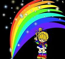 Rainbow Brite at Night  by Angela Owen