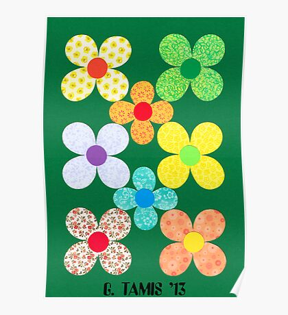 8 FLOWERS FROM CUT SHEETS Poster
