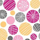 Abstract colorful circles pattern by oksancia