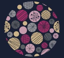 Abstract colorful circles pattern One Piece - Short Sleeve