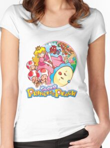 Super Princess Peach Women's Fitted Scoop T-Shirt