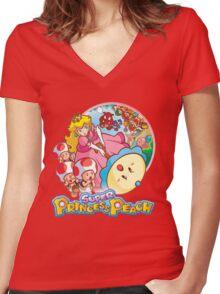Super Princess Peach Women's Fitted V-Neck T-Shirt