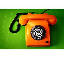 Orange Phone Photographic Print