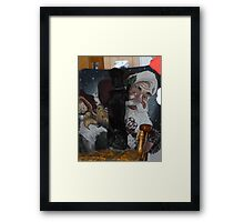 Looking For Santa Framed Print