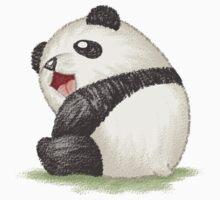Happy panda sitting by Toru Sanogawa