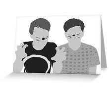 Dan & Phil   Poster in grey Greeting Card
