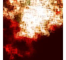 red, rose darkness in midwinter pixel abstration Photographic Print