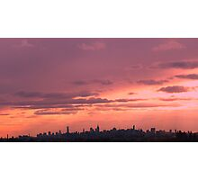 Late afternoon sky over New York City Photographic Print