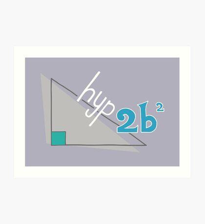 Hyp 2b(squared) - blue Art Print