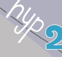 Hyp 2b(squared) - blue Sticker