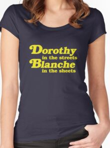 Dorothy In The Streets, Blanche in the Sheets Women's Fitted Scoop T-Shirt