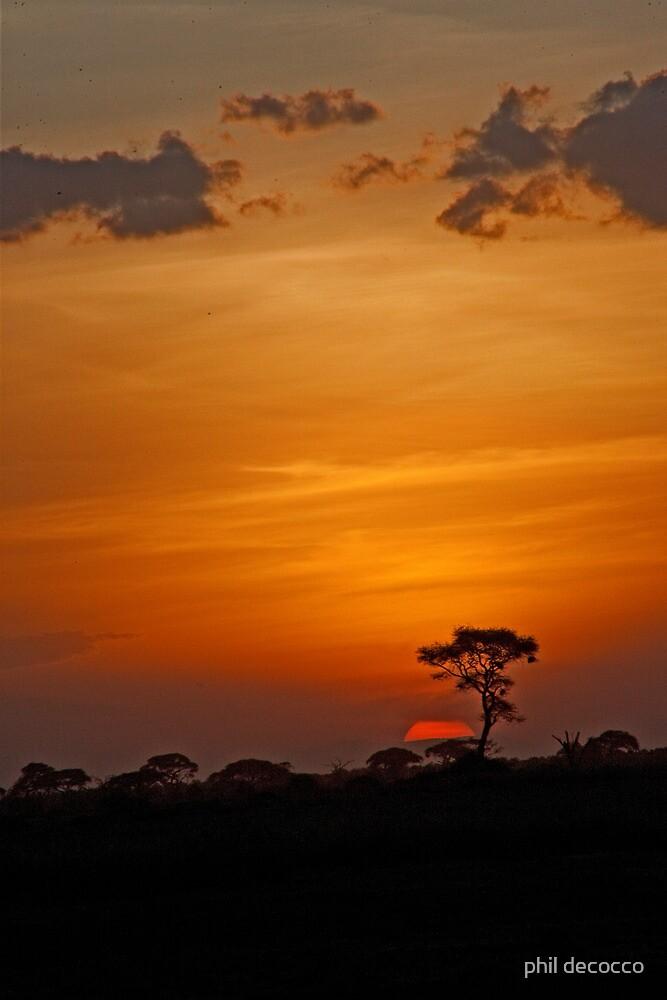 Tanzanian Sundown by phil decocco
