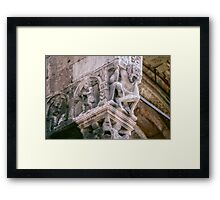 Man with the weight of the church on his shoulders St Zeno Verona Italy 198404190007  Framed Print