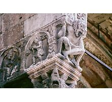Man with the weight of the church on his shoulders St Zeno Verona Italy 19840419 0007  Photographic Print