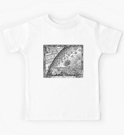 Flammarion - Psychedelic renaissance woodcut Kids Tee