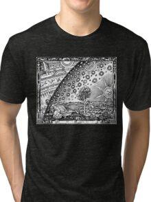 Flammarion - Psychedelic renaissance woodcut Tri-blend T-Shirt