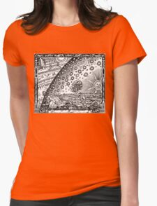Flammarion - Psychedelic renaissance woodcut Womens Fitted T-Shirt
