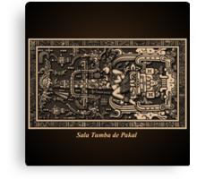Sala Tumba de Pakal Canvas Print
