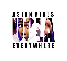 Asian Girls Everywhere (Black Letters) Photographic Print