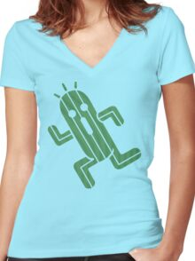 Cactuar - Final Fantasy Women's Fitted V-Neck T-Shirt