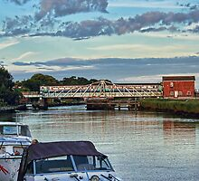 Reedham Swing Bridge by Avril Harris