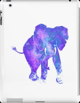 Galaxy elephant by MZawesomechic