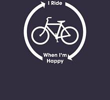 I Ride When I'm Happy (White) Unisex T-Shirt