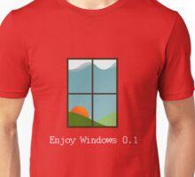 Enjoy Windows 0.1 - White Text Unisex T-Shirt