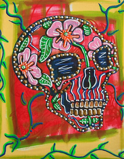 Skull of Flowers by Laura Barbosa
