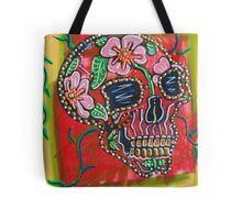 Skull of Flowers Tote Bag