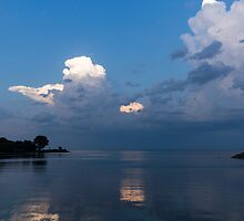 Cool Pearly Clouds Over the Lake by Georgia Mizuleva