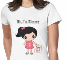 Women T-Shirt Hi I'm Kimmy with lovely Hamster Womens Fitted T-Shirt