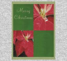 Mottled Red Poinsettia 1 Ephemeral Merry Christmas Q5F1 Baby Tee