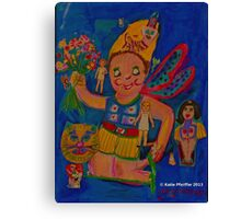 Blue Fairy Collage Canvas Print