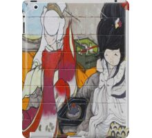 Graffiti Asian women in kimonos iPad Case/Skin