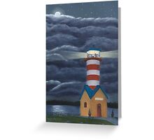Lighthouse at Grafton, Illinois Greeting Card