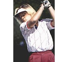 Girl Golfing Photographic Print