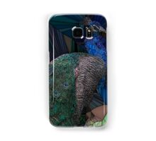 Stain glass male peacock  Samsung Galaxy Case/Skin