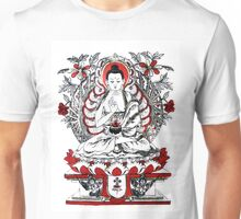 Buddha Meditating in a Lotus Flower Unisex T-Shirt